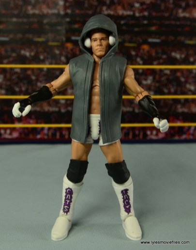 WWE Elite Tyson Kidd figure review -with headphones on