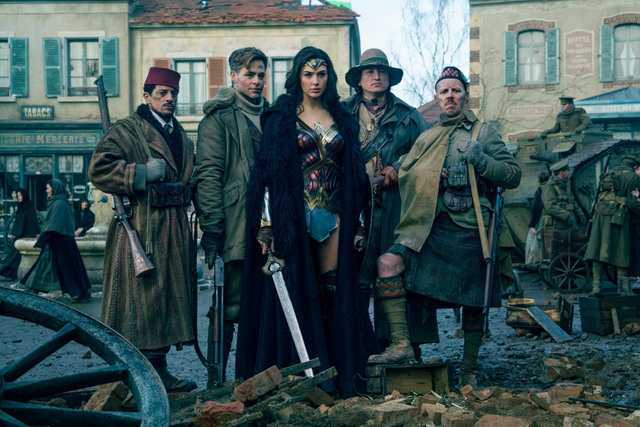 Wonder-Woman-movie-Ewen-Bremner-Chris-Pine-Gal-Gadot-Eugene-Brave-Rock-and-Said-Taagmaoui