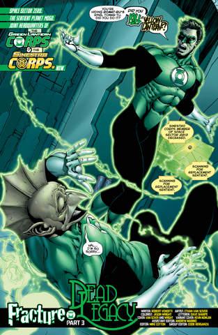 Hal Jordan and the Green Lantern Corps #24 interior art