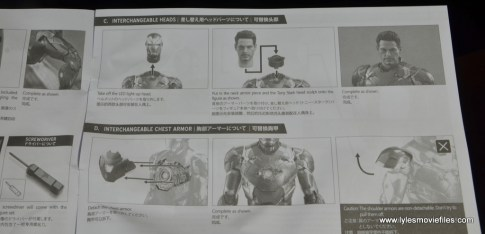 Hot Toys Captain America Civil War Iron Man figure review - instructions page