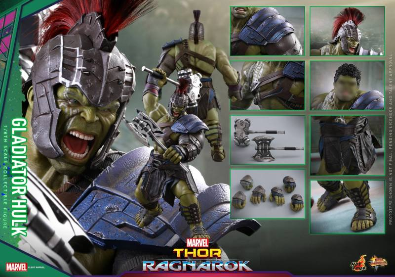 Hot Toys Thor Ragnarok Gladiator Hulk figure - collage