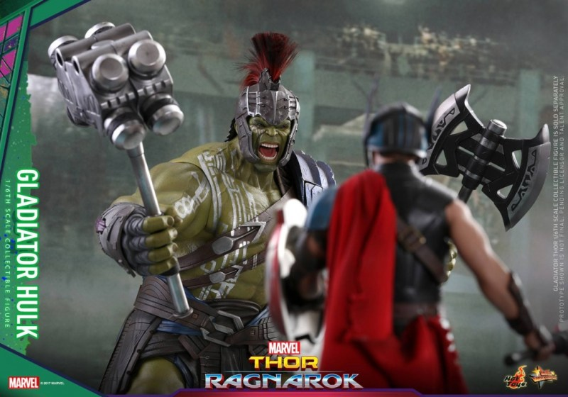 Hot Toys Thor Ragnarok Gladiator Hulk figure - ready to fight