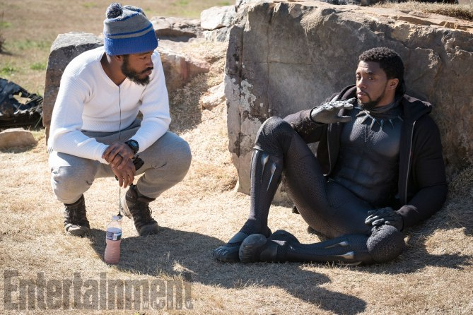 Marvel-Black-Panther-movie-pictures-Ryan-Coogler-and-Chadwick-Boseman