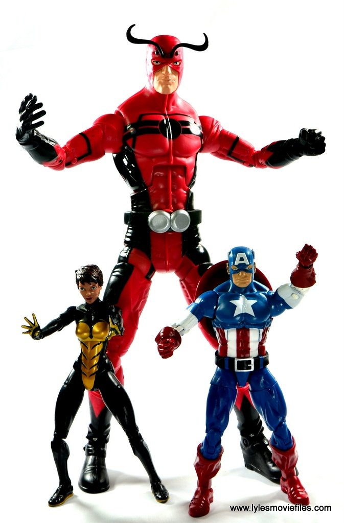 Marvel Legends Ant-Man SDCC 2015 set review - Giant Man with Wasp and Captain America
