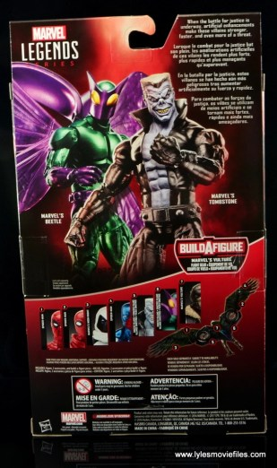 Marvel Legends Beetle figure review -package rear
