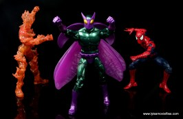 Marvel Legends Beetle figure review -trying to escape from The Human Torch and Spider-Man