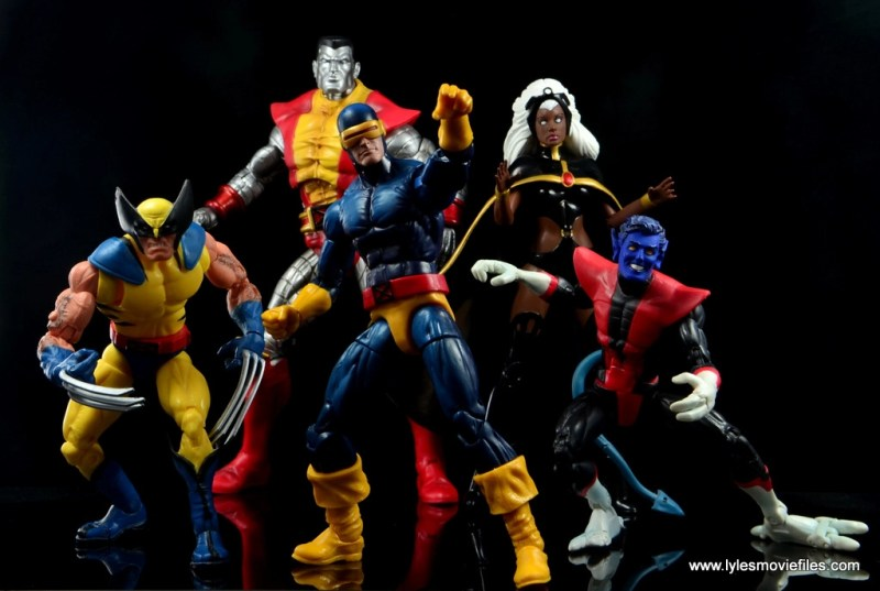 Marvel Legends Cyclops and Dark Phoenix figure review -Cyclops with Wolverine, Colossus, Storm and Nightcrawler