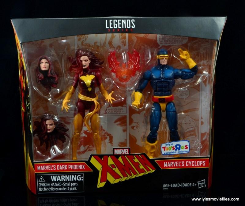 Marvel Legends Cyclops and Dark Phoenix figure review -front package