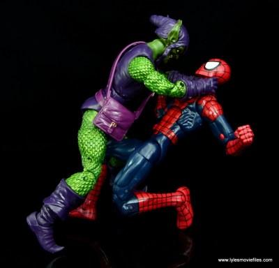 Marvel Legends Green Goblin figure review -choking Spider-Man