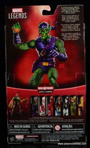 Marvel Legends Green Goblin figure review -package rear