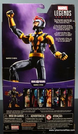 Marvel Legends Kid Nova figure review -package rear