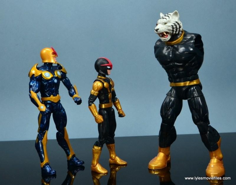 Marvel Legends Kid Nova figure review - with Nova and armless Titus
