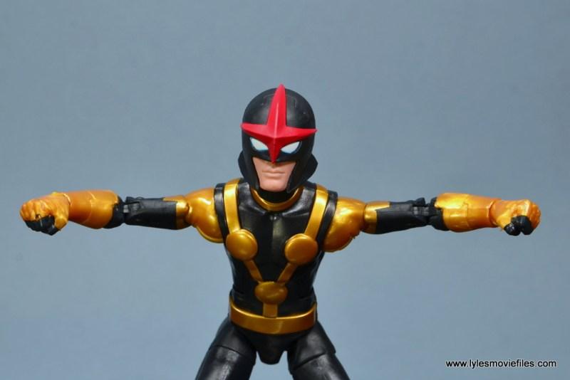 Marvel Legends Kid Nova figure review -zooming along