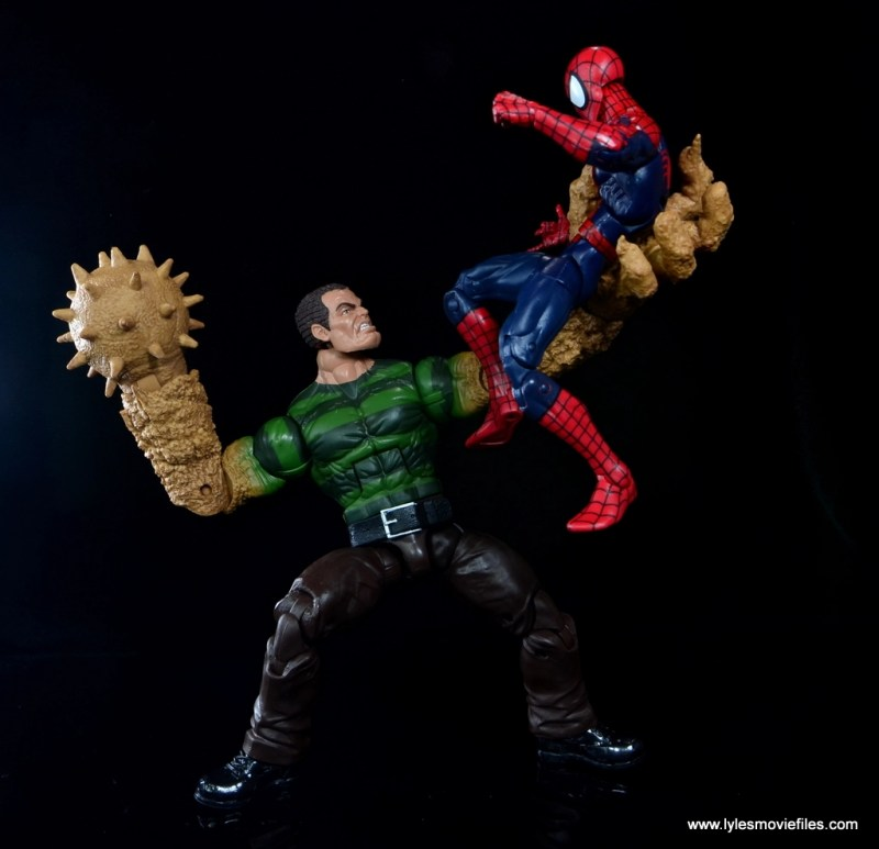 Marvel Legends Sandman figure review - about to spike Spider-Man