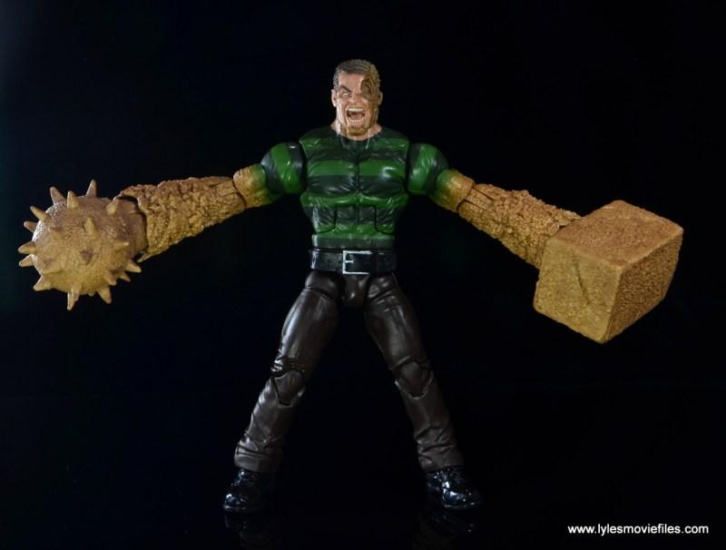 Marvel Legends Sandman figure review -alternate accessories on