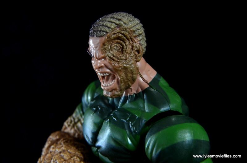 Marvel Legends Sandman figure review -damaged sand face side
