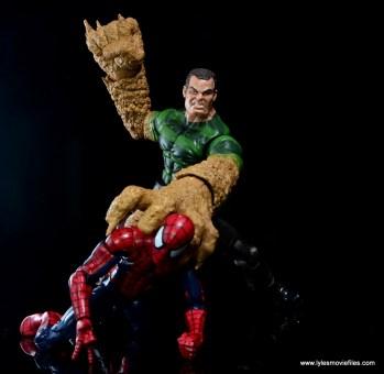 Marvel Legends Sandman figure review -grabbing Spider-Man