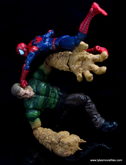 Marvel Legends Sandman figure review -knockout punch from Spider-Man