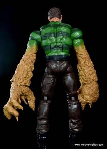 Marvel Legends Sandman figure review - rear