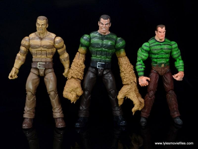 Marvel Legends Sandman figure review - side by side with The Raft Sandman and Toy Biz Sandman