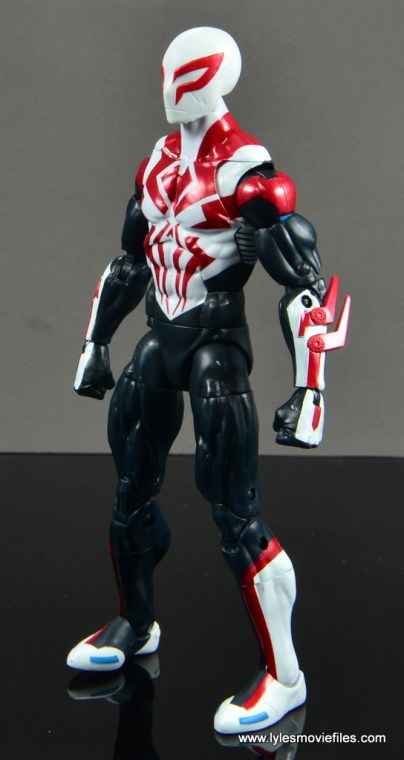Marvel Legends Spider-Man 2099 figure review - left side