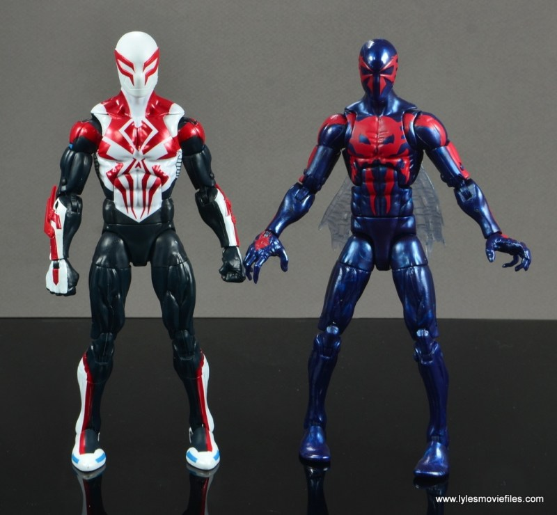 Marvel Legends Spider-Man 2099 figure review - with old Spider-Man 2099