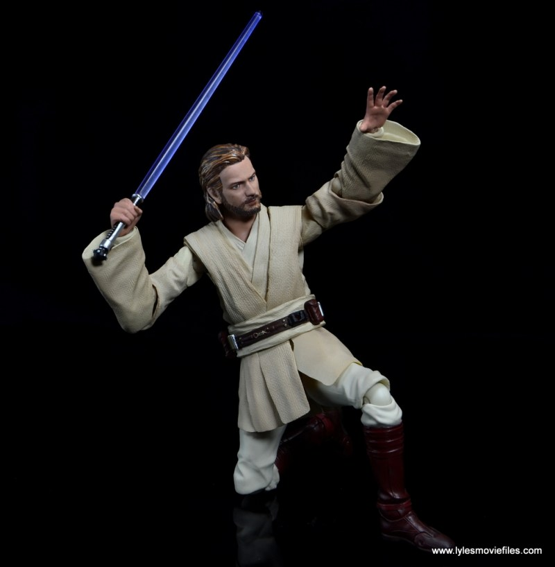 SHFiguarts Star Wars Obi-Wan Kenobi figure review -on one knee