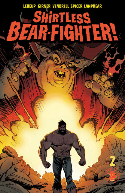ShirtlessBearFighter #2 cover