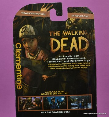 The Walking Dead Telltale Games Clementine figure review - bio