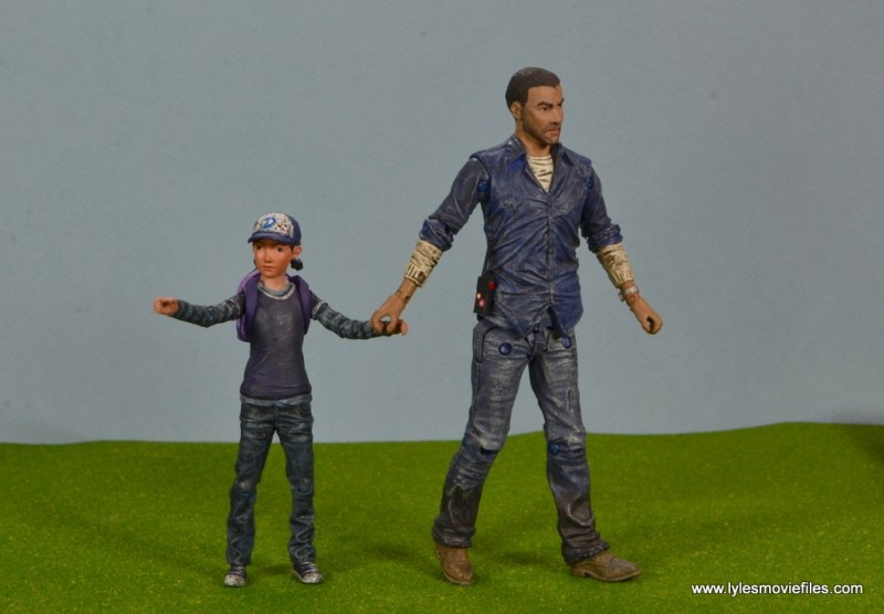 The Walking Dead Telltale Games Clementine figure review - walking with Lee