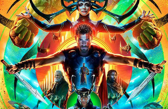 Thor Ragnarok payoff poster - main new Thor