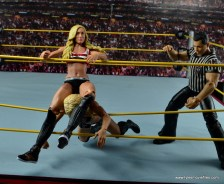 WWE Carmella figure review - choking out Charlotte Flair