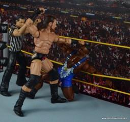 WWE Elite Big Cass and Enzo figure review -Cass beating down Big E