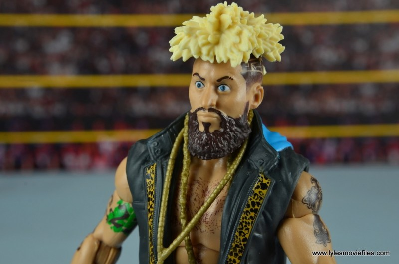 WWE Elite Big Cass and Enzo figure review -Enzo head detail