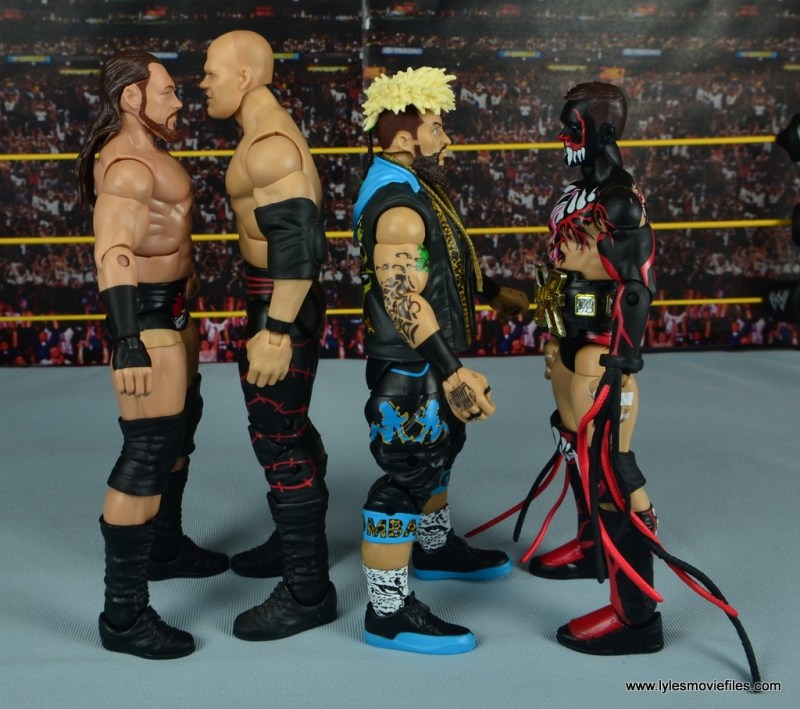 WWE Elite Big Cass and Enzo figure review -scale to Kane and Finn Balor