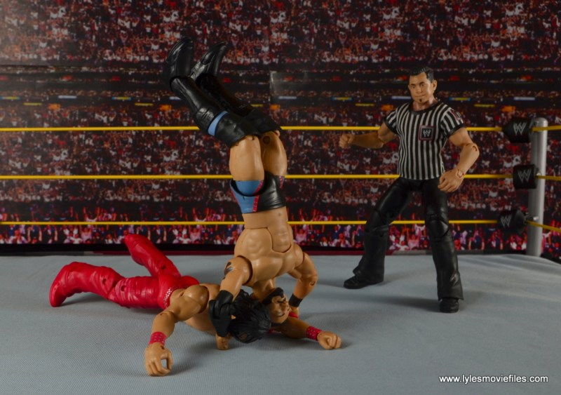 WWE NXT TakeOver Austin Aries figure review -flipping over Nakamura