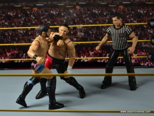 WWE NXT TakeOver Austin Aries figure review -forearm to Samoa Joe