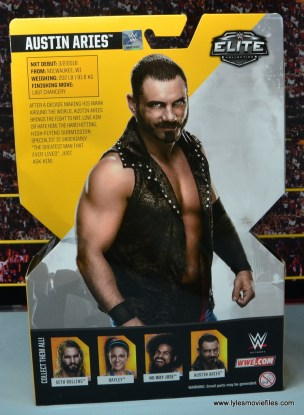 WWE NXT TakeOver Austin Aries figure review -package rear