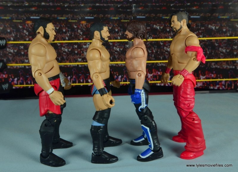 WWE NXT TakeOver Austin Aries figure review -scale with Samoa Joe, AJ Styles and Shinsuke Nakamura