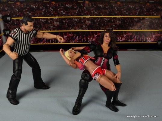 WWE Nia Jax figure review - backbreaker to Alexa Bliss
