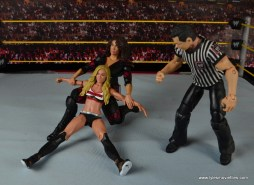 WWE Nia Jax figure review - stretching out Carmella