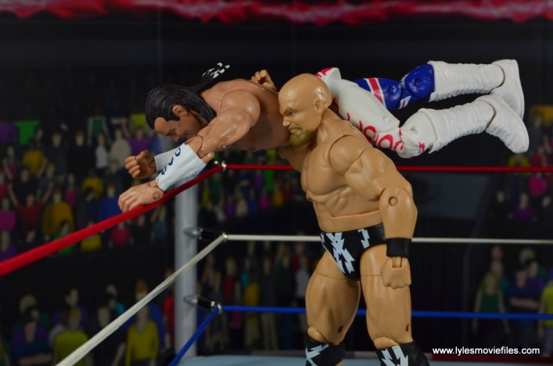 WWE The Warlord figure review - about to toss British Bulldog