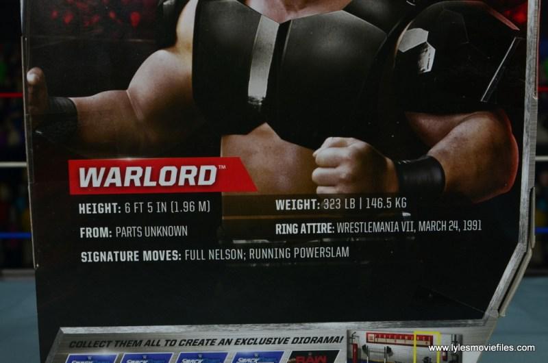 WWE The Warlord figure review -bio