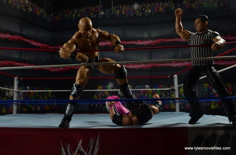WWE The Warlord figure review -stomping on Bret Hart