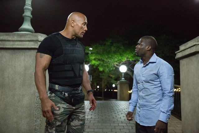 Central Intelligence - Dwayne Johnson and Kevin Hart two