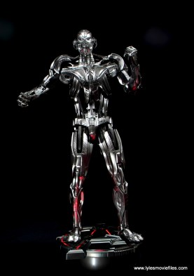 Hot Toys Avengers Ultron Prime figure review - on lit base