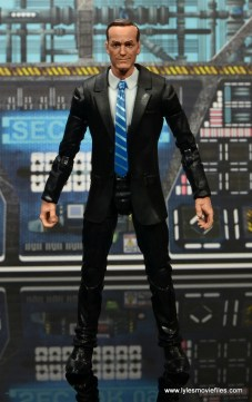 Marvel Legends Avengers Initative figure review - Agent Coulson front