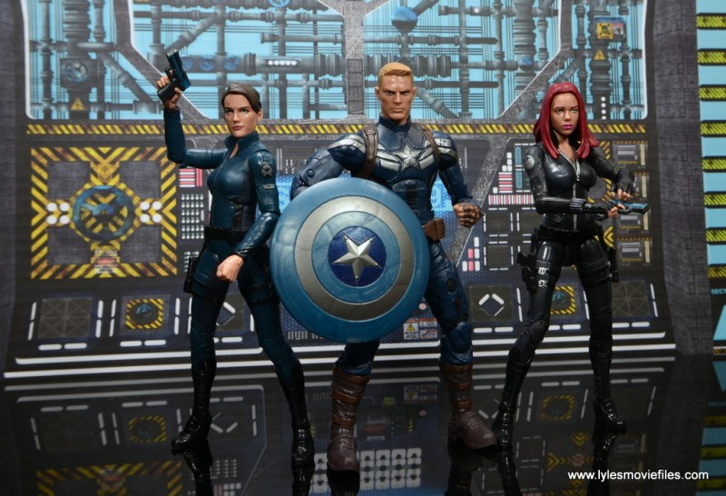 Marvel Legends Avengers Initative figure review -Maria Hill with Captain America and Black Widow