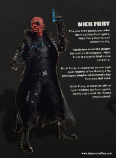 Marvel Legends Avengers Initative figure review -Nick Fury bio