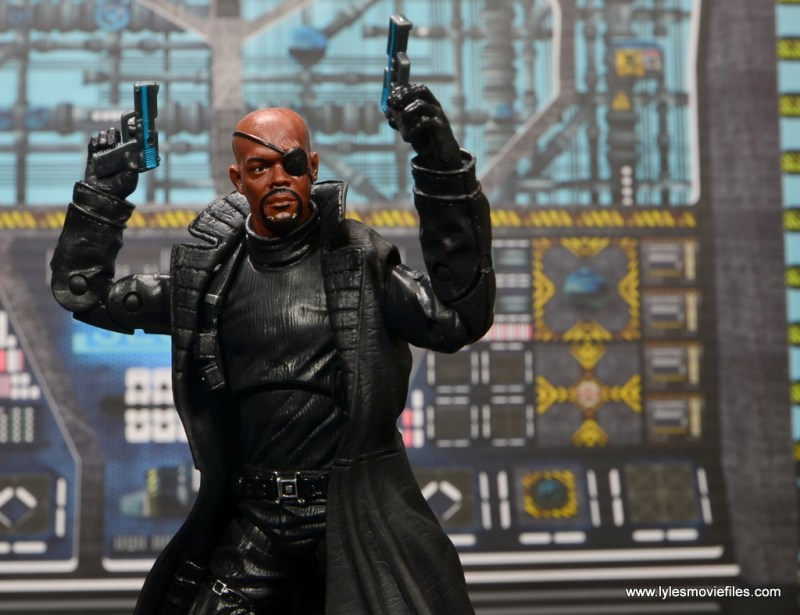 Marvel Legends Avengers Initative figure review -Nick Fury main
